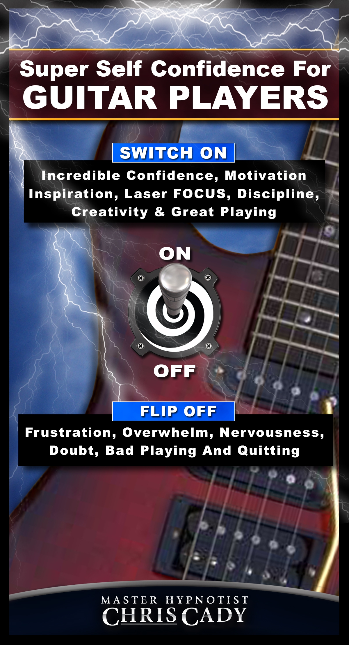 guitar self confidence motivation practice cd program for guitarists