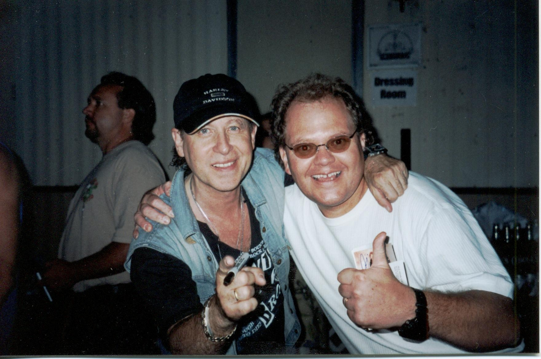 Klaus Meine of the scorpions and Chris Cady